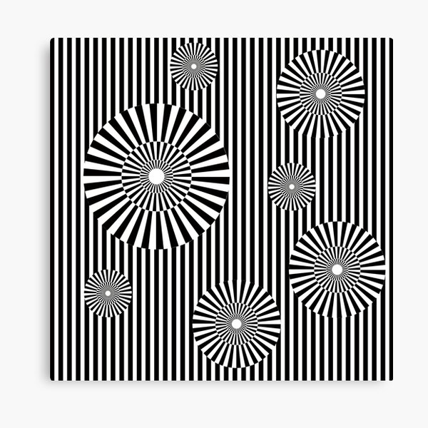 MOVING CIRCLES (BLACK) Lienzo