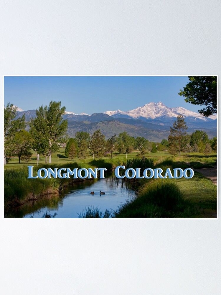 Alternate view of Longmont Colorado Twin Peaks View Poster Poster