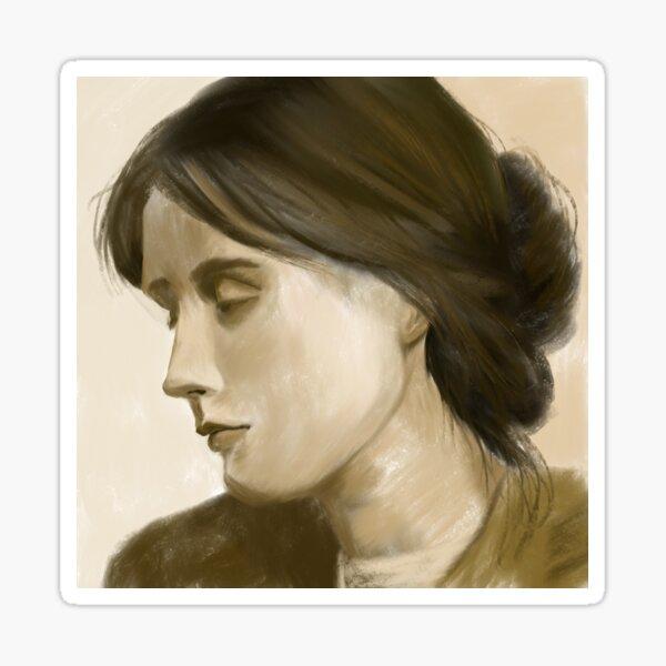 Moody woman  Sticker