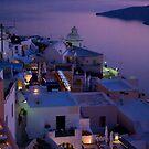 Santorini at Sunset by Monica Di Carlo