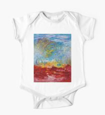 Genesis - Vibrant Colorful Abstract Art Representing a Visceral Beginning One Piece - Short Sleeve