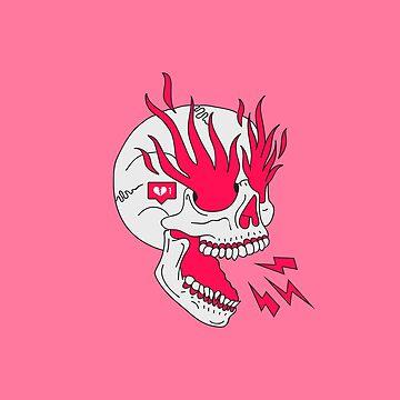 Skull Girl Classic Tattoo de Lostanaw