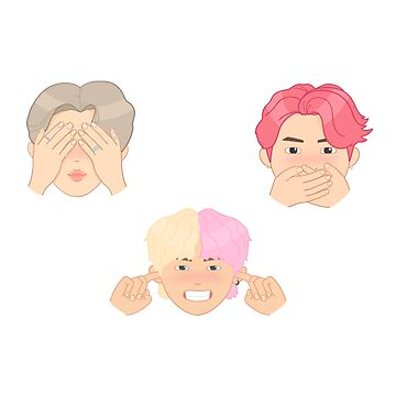 MUSIC BTS - maknae line idol era / three wise monkeys by hslim