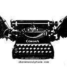 B&W Winged Corona Typewriter by octotypewriter