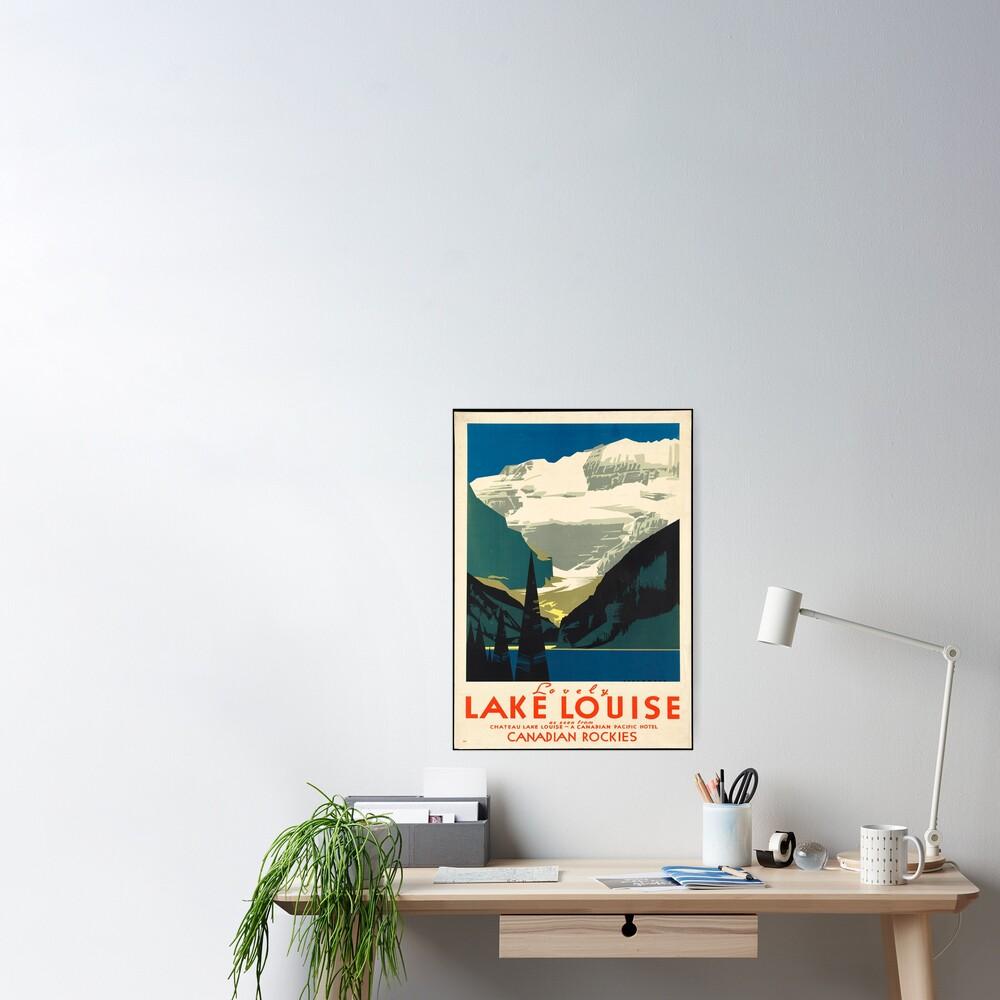 Vintage Travel Poster: Lake Louise Poster