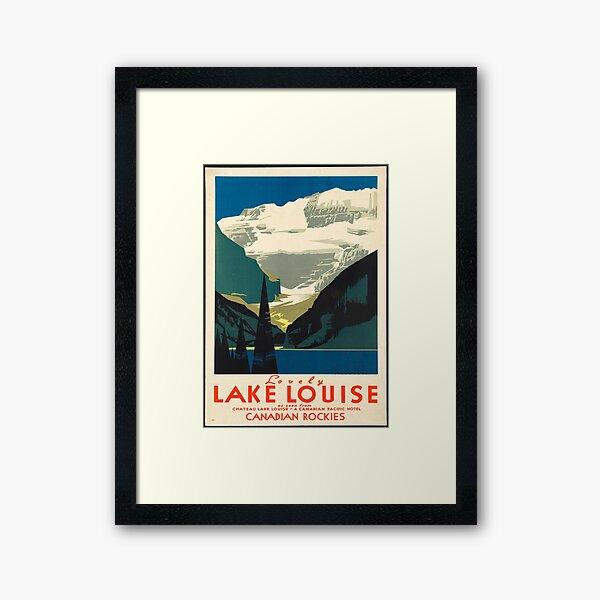 Vintage Travel Poster: Lake Louise Framed Art Print