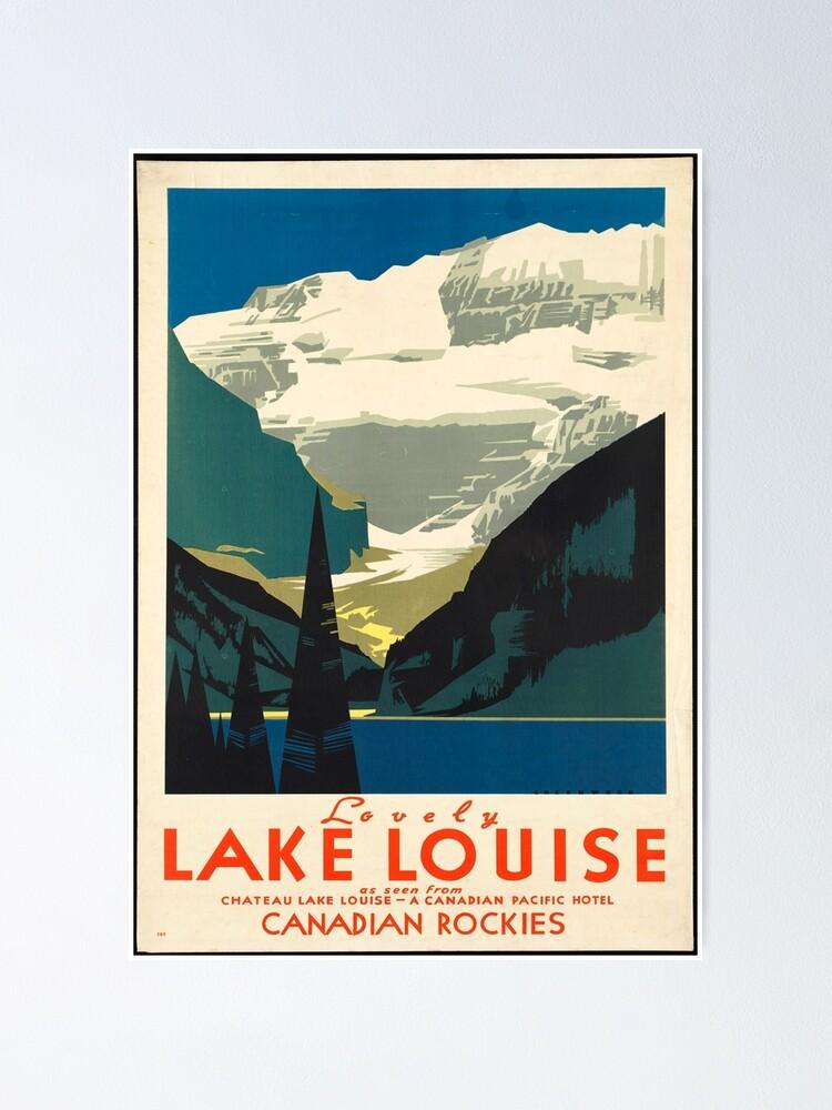 Alternate view of Vintage Travel Poster: Lake Louise Poster