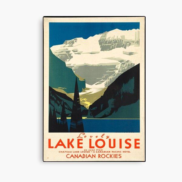 Vintage Travel Poster: Lake Louise Canvas Print