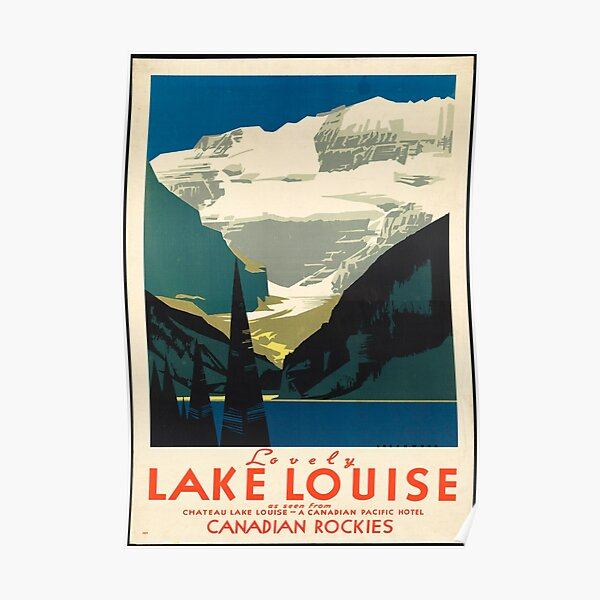 Vintage Travel Poster: Lake Louise Poster