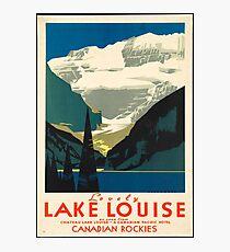 Vintage Travel Poster: Lake Louise Photographic Print
