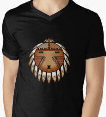 Katsina Sun Face Men's V-Neck T-Shirt