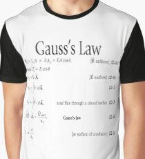 Gauss's Law, Physics, #Gauss's #Law, #GaussLaw, #Physics, #Physics2, #GeneralPhysics, #Document Graphic T-Shirt