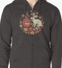 Halloween Friends | Autumn Palette Zipped Hoodie