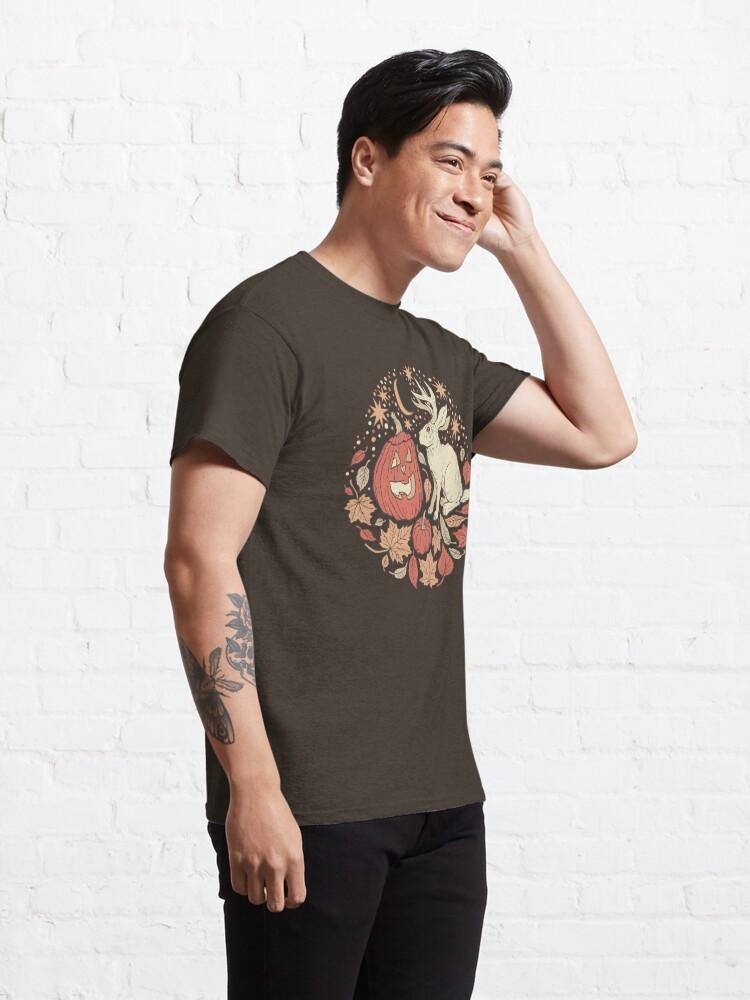 Vista alternativa de Camiseta clásica Amigos de Halloween | Paleta de otoño