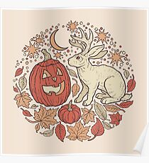 Halloween Freunde | Herbst-Palette Poster