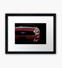 Ford Mustang - Black (& red) Framed Print