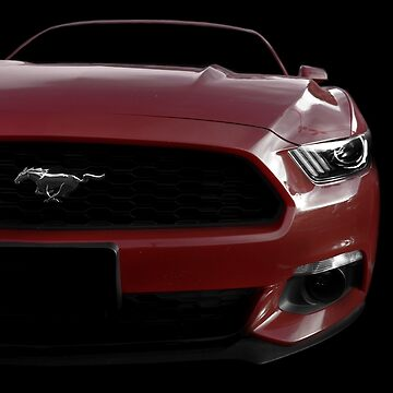 Ford Mustang - Black (& red) by mal-photography