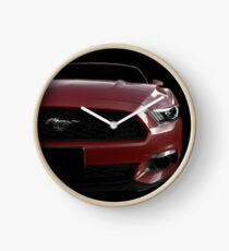 Ford Mustang - Black (& red) Clock