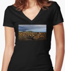 Rough Island Women's Fitted V-Neck T-Shirt