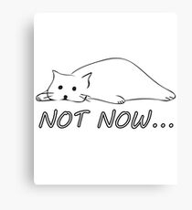 Not Now Darling Cats Funny Kitty Sad Face Cat Procrastination Timing Spleen Meme  Canvas Print
