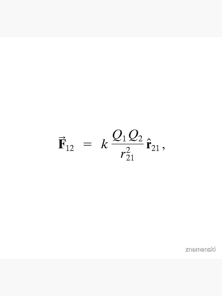 Coulomb's law: Magnitude of Electrostatic Force between two point charges is directly proportional to Product of Magnitudes of charges and inversely proportional to Square of Distance between them by znamenski