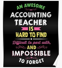 Accounting Teacher Appreciation Gift Poster