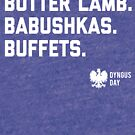 3Bs of Dyngus Day (Butter Lambs, Babushkas, Buffets) by niemozliwe