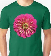 'Hot Pink Zinnea' Unisex T-Shirt