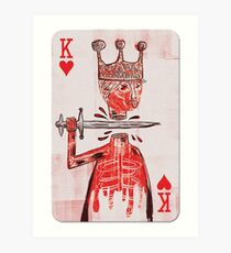 basquiat - king playing card Art Print