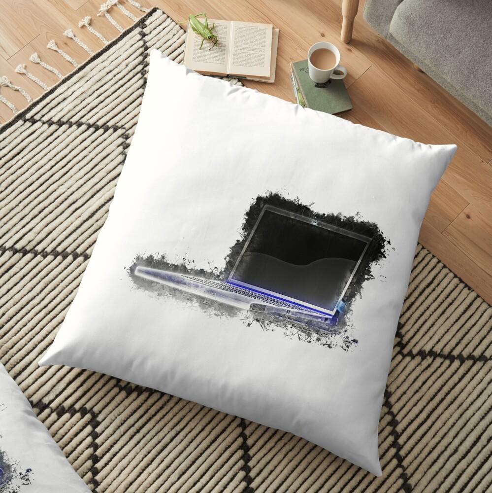 Notebook laptop glowing Art Floor Pillow