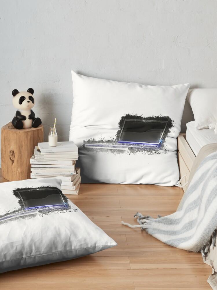 Alternate view of Notebook laptop glowing Art Floor Pillow