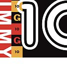 Jimmy G number ten graphic by James Goodchap