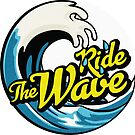 «Ride the Wave - Surfing Circle Design» de ericbracewell