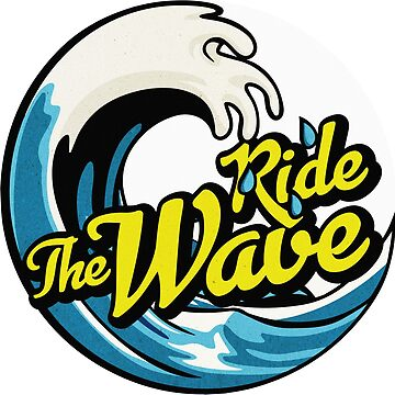 Ride the Wave - Surfing Circle Design by ericbracewell