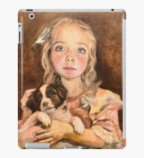 Pretty Lana Old Fashioned Victorian Child with Puppy Dog gift for Grandma iPad Case/Skin