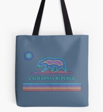 California Striped Bear Tote Bag
