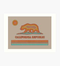California Striped Bear Art Print