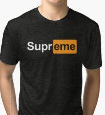 Supreme x Pornhub  Tri-blend T-Shirt
