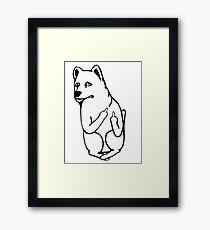 Uconn Jonathan the Husky (Throwback 1959-1960 Logo) Framed Print
