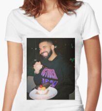 Drake being Drake Women's Fitted V-Neck T-Shirt