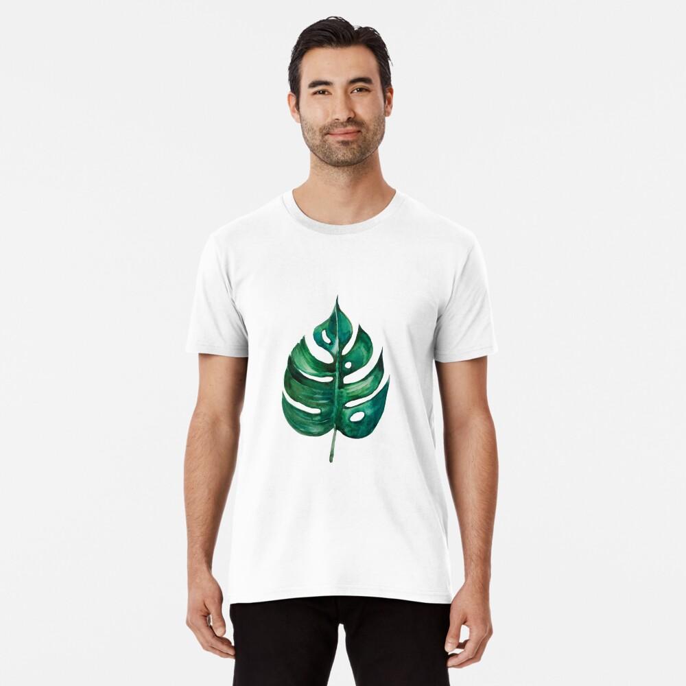 Monstera Bananen Palmblatt Premium T-Shirt