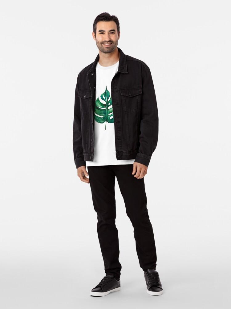Alternative Ansicht von Monstera Bananen Palmblatt Premium T-Shirt