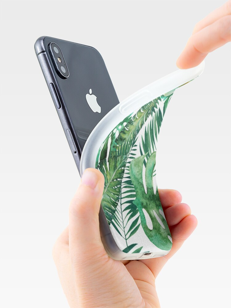 Alternate view of Monstera Banana Palm Leaf iPhone Case & Cover