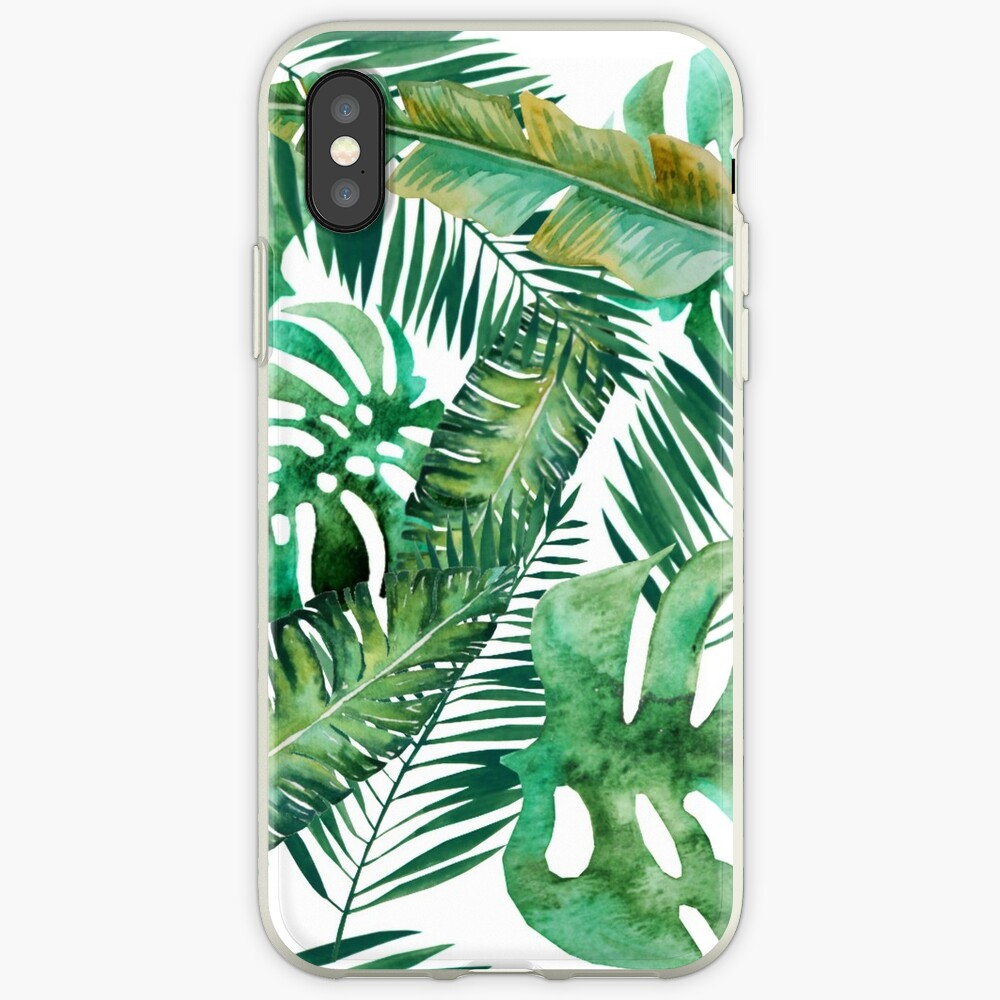 Monstera Banana Palm Leaf iPhone Case & Cover