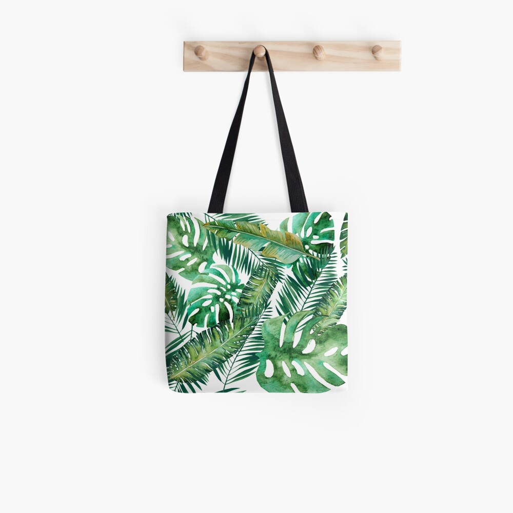 Monstera Bananen Palmblatt Tote Bag