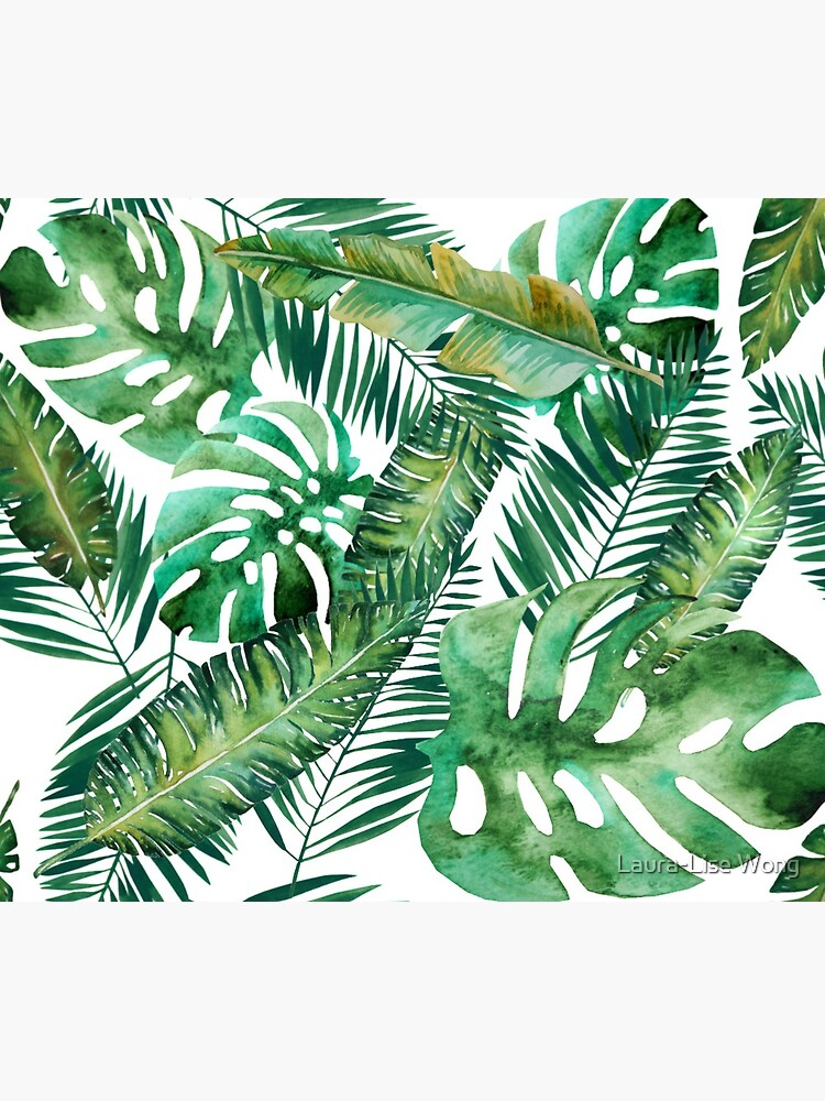 Monstera Banana Palm Leaf by crazycanonmom