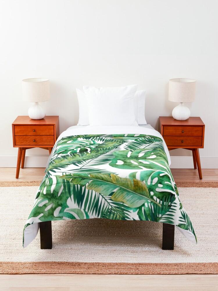 Alternate view of Monstera Banana Palm Leaf Comforter