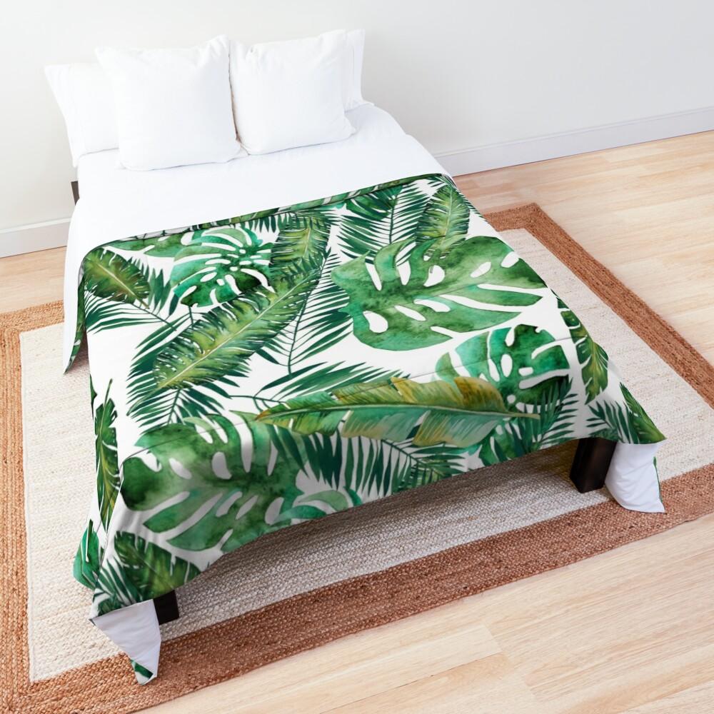 Monstera Banana Palm Leaf Comforter