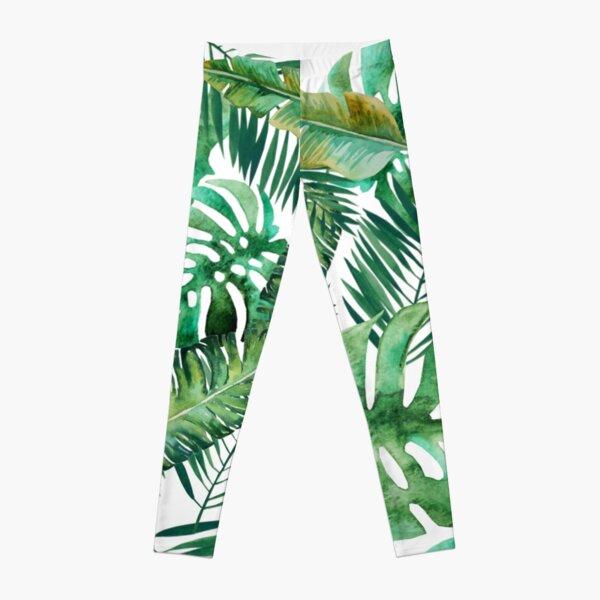 Monstera Banana Palm Leaf Leggings