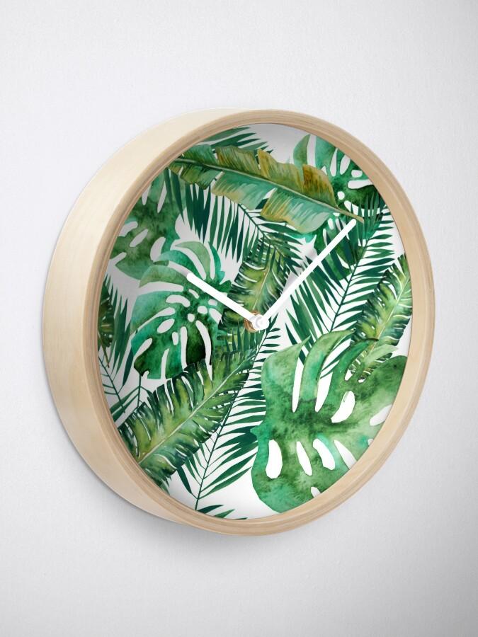 Alternate view of Monstera Banana Palm Leaf Clock